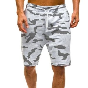 New Men Camouflage White and Grey Shorts